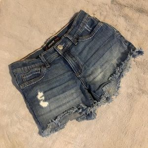Other - Girls cut off denim shorts